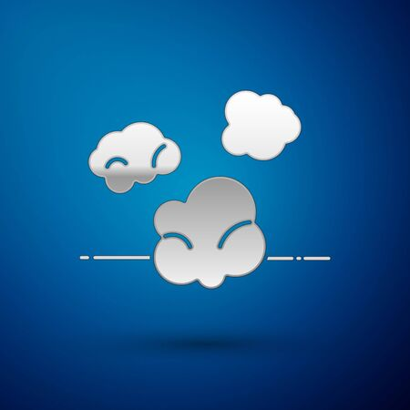 Silver Dust icon isolated on blue background. Vector Illustration