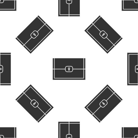 Grey Chest for game icon isolated seamless pattern on white background. Vector Illustration Illustration