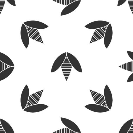 Grey Bee icon isolated seamless pattern on white background. Sweet natural food. Honeybee or apis with wings symbol. Flying insect. Vector Illustration