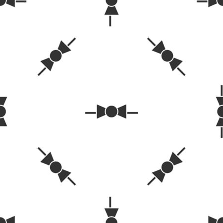 Grey Bow tie icon isolated seamless pattern on white background. Vector Illustration