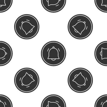 Grey Circle button and chat notification icon isolated seamless pattern on white background. New message, dialog, chat, social network notification. Vector Illustration
