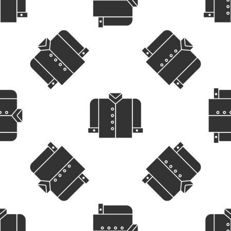 Grey T-shirt icon isolated seamless pattern on white background. Vector Illustration