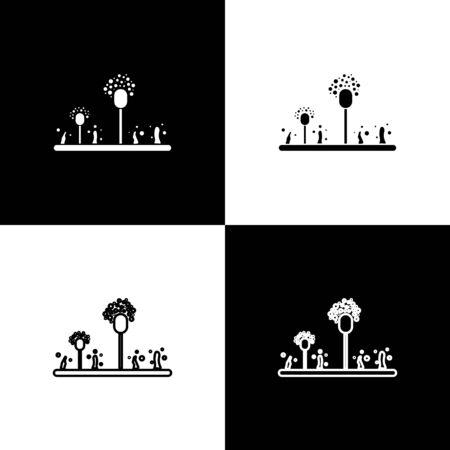 Set Mold icon isolated on black and white background. Vector Illustration Illustration