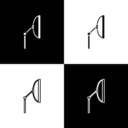 Set Windscreen wiper icon isolated on black and white background. Vector Illustration Ilustracja
