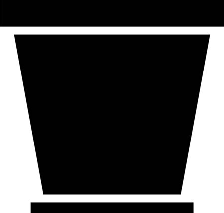 Black Flower pot icon isolated on white background. Vector Illustration Illusztráció