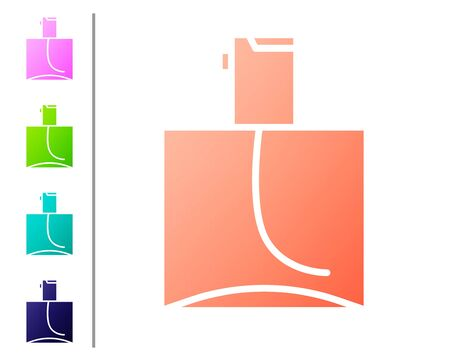 Coral Perfume icon isolated on white background. Set color icons. Vector Illustration Ilustracja