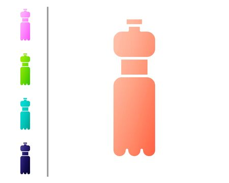 Coral Bottle of water icon isolated on white background. Soda aqua drink sign. Set color icons. Vector Illustration