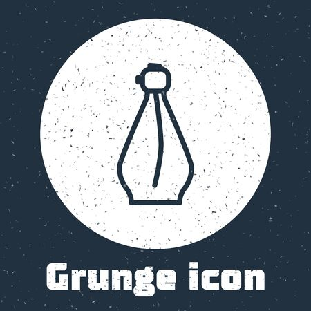 Grunge line Perfume icon isolated on grey background. Monochrome vintage drawing. Vector Illustration Stok Fotoğraf - 138739099
