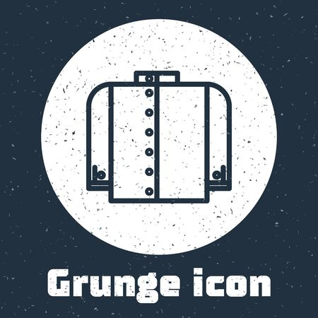 Grunge line T-shirt icon isolated on grey background. Monochrome vintage drawing. Vector Illustration
