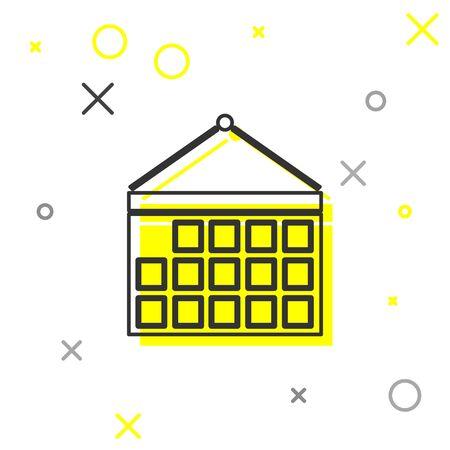 Grey line Calendar icon isolated on white background. Event reminder symbol. Vector Illustration Ilustracja