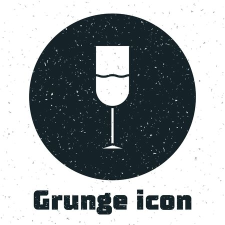 Grunge Wine glass icon isolated on white background. Wineglass icon. Goblet symbol. Glassware sign. Vector Illustration Векторная Иллюстрация