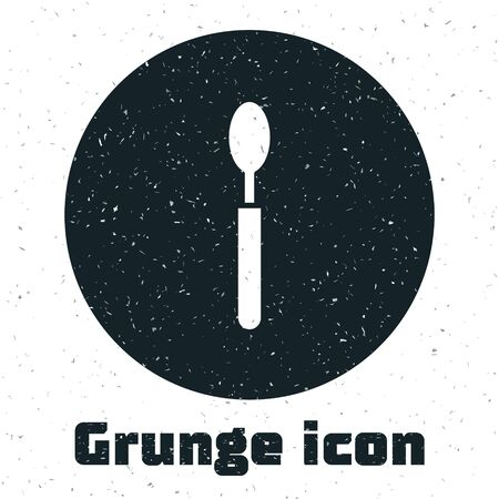 Grunge Spoon icon isolated on white background. Cooking utensil. Cutlery sign. Vector Illustration