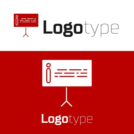 Red Information icon isolated on white background. Logo design template element. Vector Illustration
