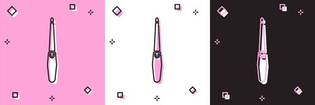 Set Nail file icon isolated on pink and white, black background. Manicure tool.  Vector Illustration Illustration