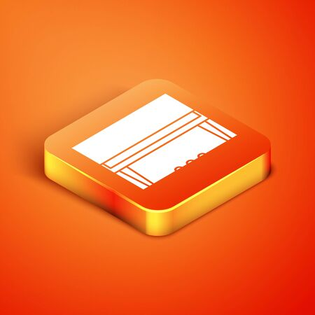 Isometric Grand piano icon isolated on orange background. Musical instrument. Vector Illustration