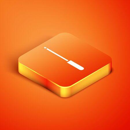 Isometric Knife sharpener icon isolated on orange background.  Vector Illustration
