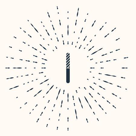 Grey Nail file icon isolated on beige background. Manicure tool. Abstract circle random dots. Vector Illustration Illusztráció