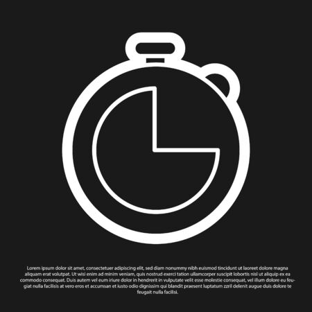 Black Kitchen timer icon isolated on black background. Cooking utensil. Vector Illustration
