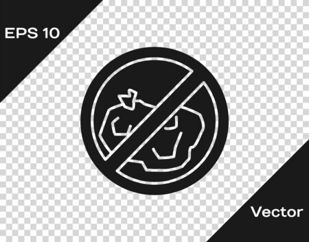Grey No trash icon isolated on transparent background. Vector Illustration