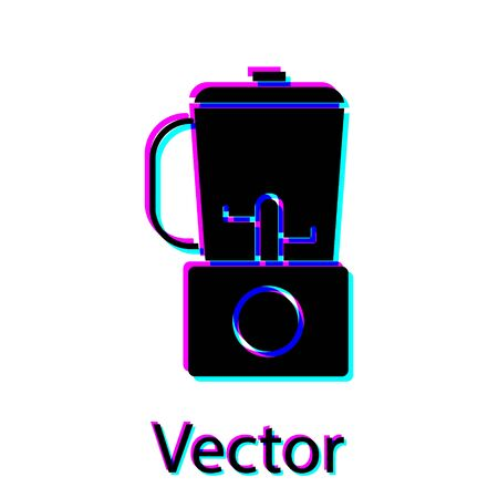 Black Blender icon isolated on white background. Kitchen electric stationary blender with bowl. Cooking smoothies, cocktail or juice. Vector Illustration 向量圖像