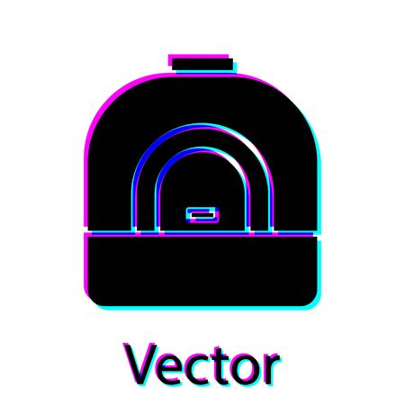 Black Oven icon isolated on white background. Stove gas oven sign. Vector Illustration  イラスト・ベクター素材