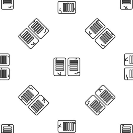 Grey line The commandments icon isolated seamless pattern on white background. Gods law concept. Vector Illustration