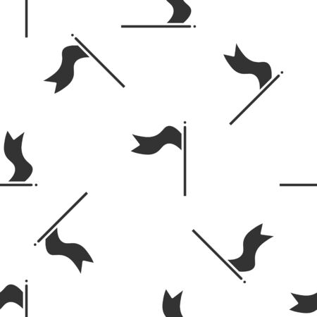 Grey Meteorology windsock wind vane icon isolated seamless pattern on white background. Windsock indicate the direction and strength of the wind.  Vector Illustration