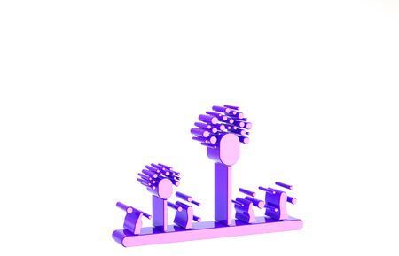 Purple Mold icon isolated on white background. Minimalism concept. 3d illustration 3D render