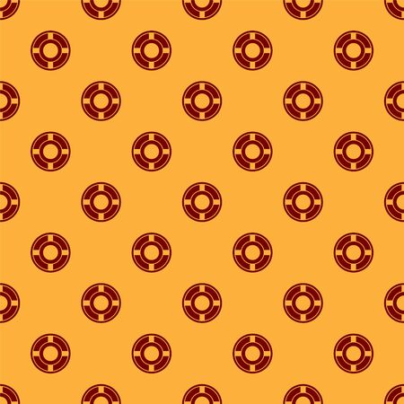 Red Ashtray icon isolated seamless pattern on brown background. Vector Illustration Illustration