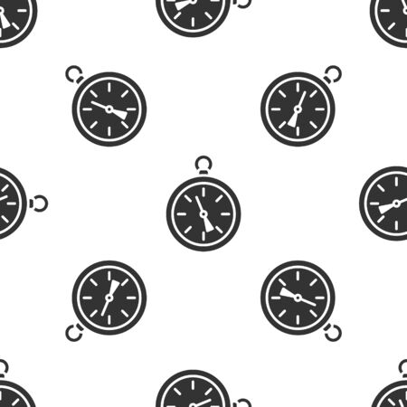 Grey Compass icon isolated seamless pattern on white background. Windrose navigation symbol. Wind rose sign. Vector Illustration