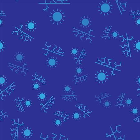Blue Drought icon isolated seamless pattern on blue background. Vector Illustration Illustration