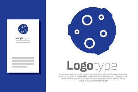 Blue Moon icon isolated on white background.  design template element. Vector Illustration