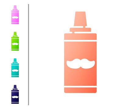Coral Shaving gel foam icon isolated on white background. Shaving cream. Set color icons. Vector Illustration