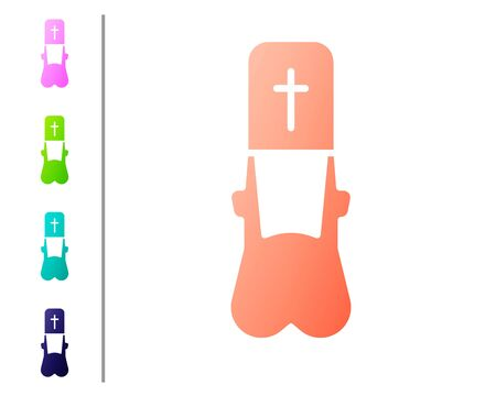 Coral Priest icon isolated on white background. Set color icons. Vector Illustration