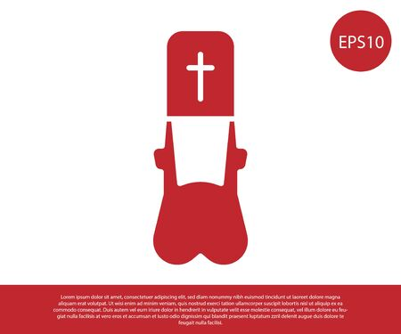 Red Priest icon isolated on white background. Vector