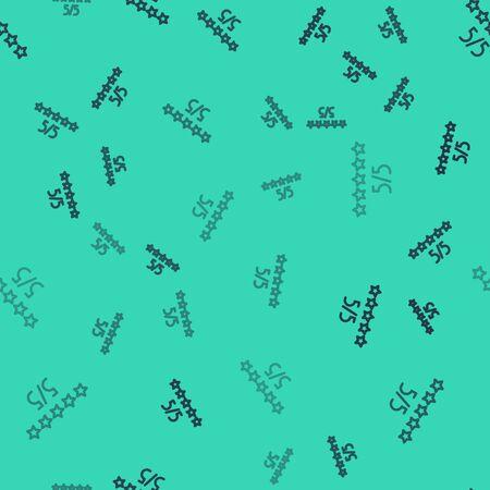 Black line Consumer or customer product rating icon isolated seamless pattern on green background. Vector Illustration Vektoros illusztráció