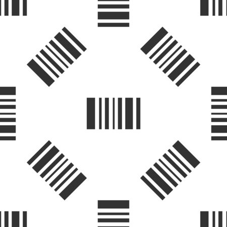 Grey Barcode icon isolated seamless pattern on white background. Vector