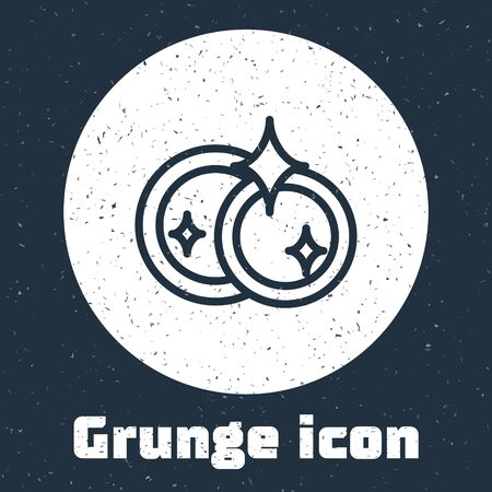 Grunge line Washing dishes icon isolated on grey background. Cleaning dishes icon. Dishwasher sign. Clean tableware sign. Monochrome vintage drawing. Vector Illustration