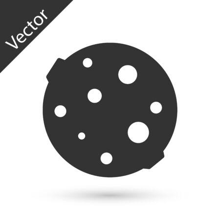 Grey Moon icon isolated on white background. Vector Illustration 向量圖像