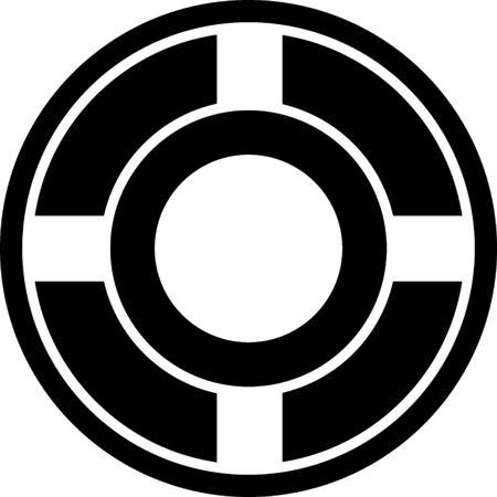 Black Ashtray icon isolated on white background. Vector Illustration