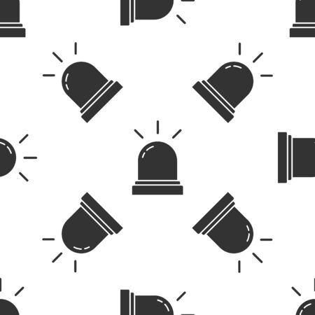 Grey Motion sensor icon isolated seamless pattern on white background. Vector