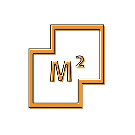 Orange House plan icon isolated on white background. Vector 일러스트