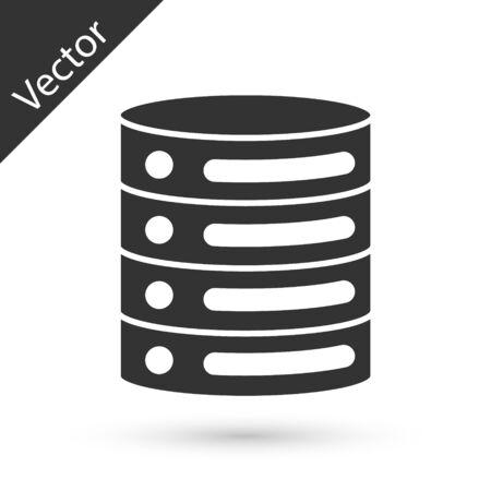 Grey Server, Data, Web Hosting icon isolated on white background. Vector