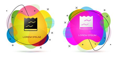 Color Aquarium icon isolated on white background. Aquarium for home and pets. Abstract banner with liquid shapes. Vector
