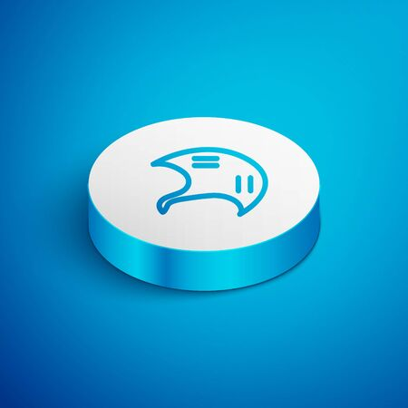 Isometric line Stingray icon isolated on blue background. White circle button. Vector. Vettoriali