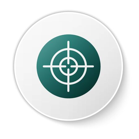 Green Target sport icon isolated on white background. Clean target with numbers for shooting range or shooting. White circle button. Vector. Illusztráció