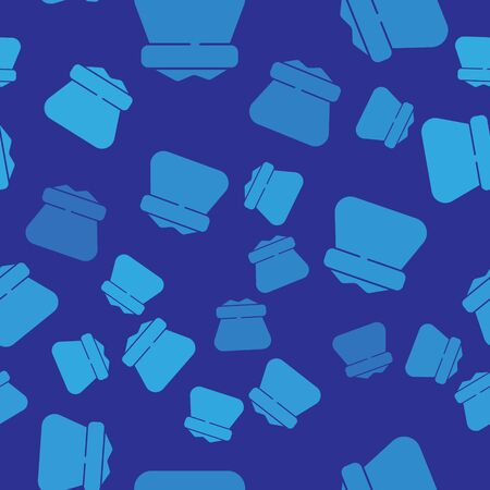 Blue Full sack icon isolated seamless pattern on blue background. Vector