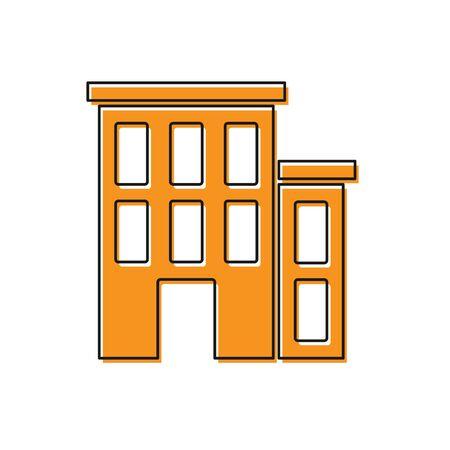 Orange House icon isolated on white background. Home symbol. Vector. Illustration
