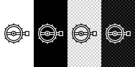 Set line Trap hunting icon isolated on black and white background. Vector 向量圖像
