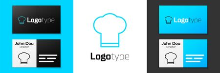Grey line Chef hat icon isolated on white background. Cooking symbol. Cooks hat. Vector Illustration.